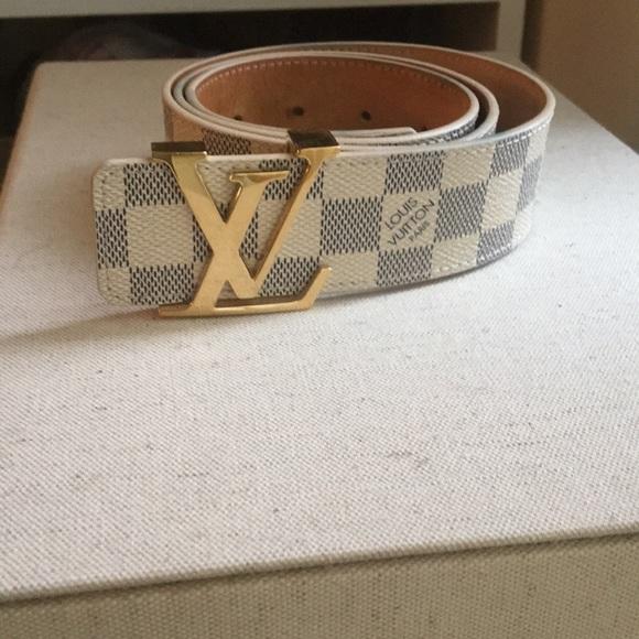 a55b99c3b043 Louis Vuitton Accessories - LV Initiales Damier Azur 40MM belt size 85